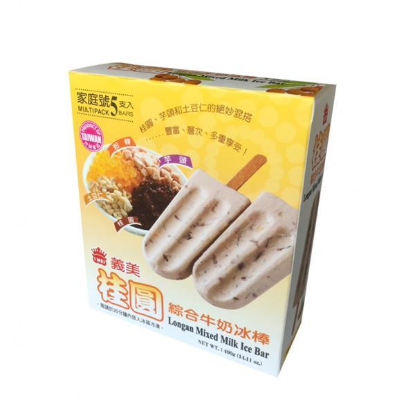 義美5入桂圓綜合牛奶冰棒(奶素) 1