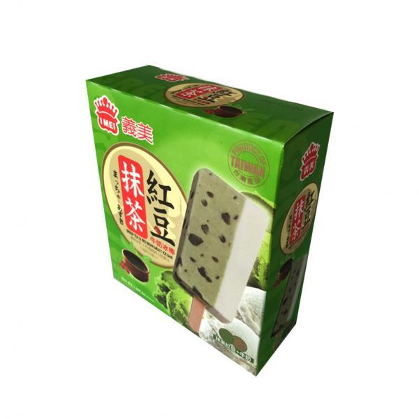義美5入雙色冰棒-抹茶紅豆牛奶(奶素) 1