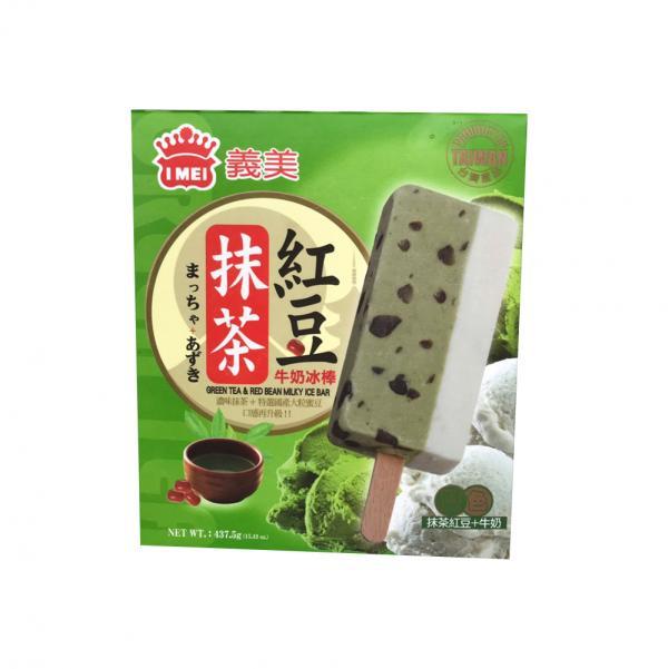 義美5入雙色冰棒-抹茶紅豆牛奶(奶素) 2