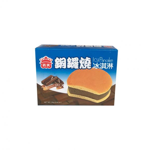 義美銅鑼燒冰淇淋-巧克力(奶素) 2