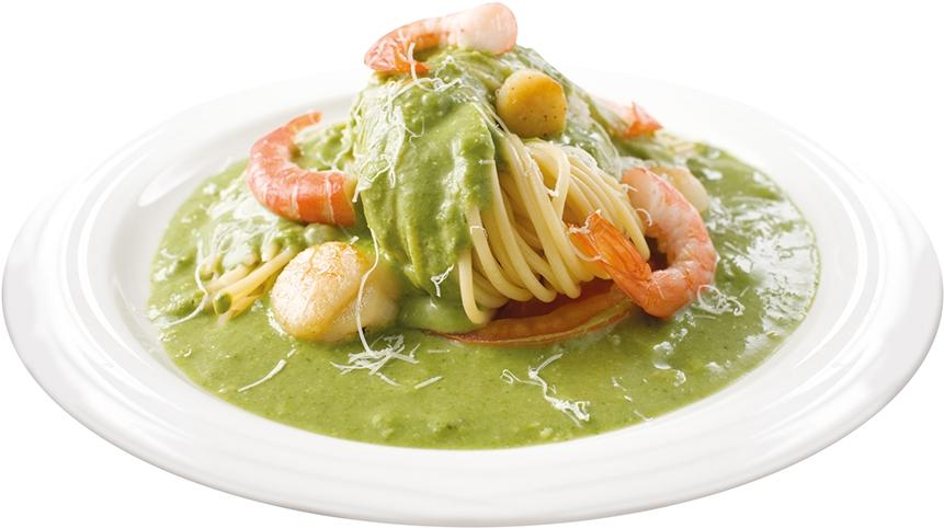 金品-青醬干貝鮮蝦焗麵 2
